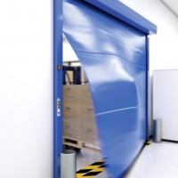 Portes automatiques souples rapides alubat menuiserie for Porte automatique record