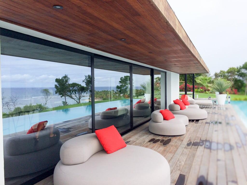 Hotel Restaurant La Toubana - Sainte Anne - Guadeloupe - Baie coulissantePanoramique